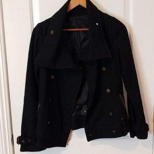 Black jacket with zip pockets